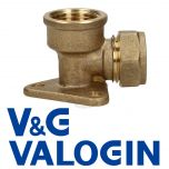 """V&G Compression 15 mm X 1/2"""" Backplate Elbow"""