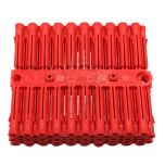 Talon Red Plastic Fixing Plugs (strip of 100)