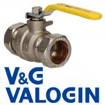 V&G 28 mm Yellow Handle Gas Lever Ball Valve