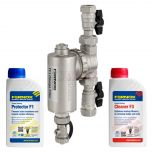 Fernox TF1 Omega Filter 22mm (Including Valves) Chemical Pack
