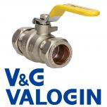 V&G 22mm Yellow Handle Gas Lever Ball Valve