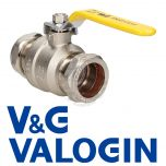 V&G 35 mm Yellow Handle Gas Lever Ball Valve
